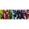 iCanvas Comics (Avengers) - Rainbow Avengers Panoramic by Marvel Comics Graphic Art on Canvas