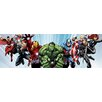 iCanvas Avenger Heroes Flying Panoramic by Marvel Comics Graphic Art on Canvas