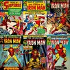 iCanvas Comics (Retro) - Book Iron Man Comic Covers #2 by Marvel Comics Graphic Art on Canvas