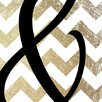 iCanvas And-Bold Gold Chevron Graphic Art on Canvas