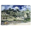 iCanvas 'Thatched Cottages at Cordeville' by Vincent Van Gogh Painting Print on Wrapped Canvas