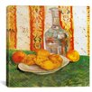 """iCanvas """"Still Life with Bottle and Lemons on a Plate"""" by Vincent Van Gogh Painting Print on Wrapped Canvas"""