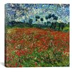 "iCanvas ""Poppy Field"" Canvas Wall Art by Vincent van Gogh"