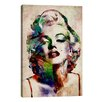 iCanvas Watercolor Marilyn Monroe by Michael Tompsett Graphic Art on Canvas