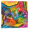 iCanvas Tilt Cat by Dean Russo Graphic Art on Wrapped Canvas