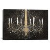 iCanvas 'Grand Chandelier Black I' by James Wiens Painting Print on Canvas