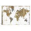 iCanvas 'Gilded Map' by All That Glitters Graphic Art on Canvas