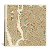 iCanvas Abstract City Map of New York City by Jazzberry Blue Graphic Art on Canvas