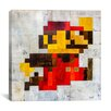 iCanvas 'Post Modern Mario' by Francis Ward Painting Print on Canvas