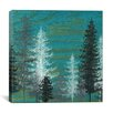 iCanvas 'Teal Trees' by Emily Magone Painting Print on Canvas