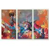 iCanvas 'Statue of Liberty' by Scott Naismith 3 Piece Painting Print on Canvas Set