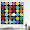 iCanvas Modern Art Dots Nine Colors Graphic Art on Canvas