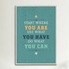 iCanvas American Flat Act Textual Art on Wrapped Canvas