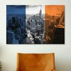 iCanvas Flags New York City Empire State Building Graphic Art on Canvas