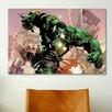 iCanvas Hulk Smash, Comic Book Poster by Marvel Comics Graphic Art on Canvas