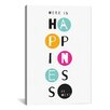 iCanvas Happiness is Here by Susan Claire Textual Art on Canvas