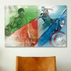 iCanvas Hulk, Thor, Iron Man & Captain America, Collage Movie Poster by Marvel Comics Graphic Art on Canvas