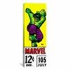 iCanvas Marvel Comics - Book Hulk Price Tag Panoramic Vintage Advertisement on Canvas