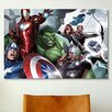 iCanvas The Avengers & Loki, Close-Up by Marvel Comics Graphic Art on Canvas