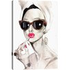 iCanvas Audrey Hepburn by Rongrong DeVoe Painting Print on Canvas