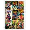 iCanvas Marvel Comics (Retro) - Book Captain America Covers Vintage Advertisement on Canvas