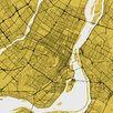 iCanvas 'Montreal Urban Roadway Map' by Urbanmap Graphic Art on Wrapped Canvas