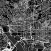iCanvas 'Washington D.C. Urban Roadway Map' by Urbanmap Graphic Art on Wrapped Canvas