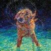 "iCanvas ""Moonlight Swim"" by Iris Scott Original Painting on Wrapped Canvas"