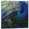 """iCanvas """"Black Peacock Diptych Panel II"""" by Iris Scott Original Painting on Wrapped Canvas"""