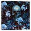 iCanvas 'Skull and Flowers' by Burcu Korkmazyurek Graphic Art on Wrapped Canvas