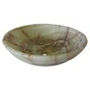 Novatto Green Onyx Stone Vessel Bathroom Sink