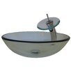 Novatto Glass Vessel Sink with Drain and Faucet