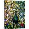 Bentley Global Arts 'Fine Peacock' by Tiffany Studios Painting Print on Canvas
