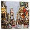 Bentley Global Arts 'Times Square Jam' by John B. Mannarini Painting Print on Canvas