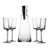 Fitz and Floyd Lincoln Pyramid 5 Piece Wine and Decanter Set