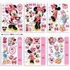 Walltastic 6 Piece Disney Minnie Mouse Wall Sticker Set