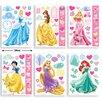 Walltastic 6 Piece Disney Princess Wall Sticker Set