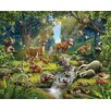 Walltastic 12 Piece Animals of The Forest Wall Mural Set