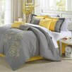 Chic Home Floral 12 Piece Comforter Set