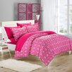 Chic Home Tina Printed Contemporary 3 Piece Duvet Cover Set