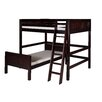 Camaflexi Camaflexi Full Over Twin L-Shape Loft Bed with Panel Headboard