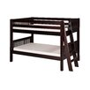 Camaflexi Low Bunk Bed with Lateral Angle Ladder and Mission Headboard
