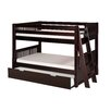 Camaflexi Camaflexi Low Bunk Bed Lateral Angle Ladder with Twin Trundle