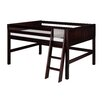 Camaflexi Full Low Loft Bed with Panel Headboard