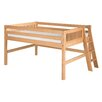 Camaflexi Full Low Loft Bed with Lateral Ladder and Mission Headboard