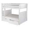 Camaflexi Full over Full Bunk Bed with Drawers and Panel Headboard