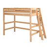 Camaflexi Loft Bed with Lateral Ladder and Mission Headboard