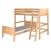 Camaflexi Twin Over Twin L-Shape Loft Bed with Panel Headboard