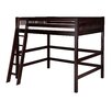 Camaflexi Full High Loft Bed with Mission Headboard