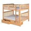 Camaflexi Santa Fe Mission Bunk Bed with Storage